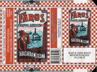 Faros cigarette pack label