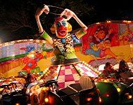 Clown ride at the feria