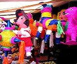 Pinatas in the market