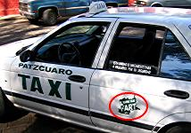 FART taxi at its stand near the Basilica