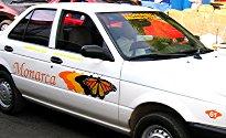 Monarca-branded taxi
